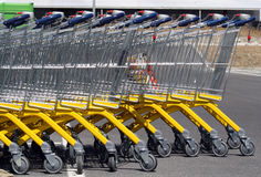 Supermarket carts. Royalty Free Stock Image