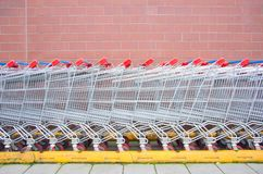Supermarket carts Royalty Free Stock Photo