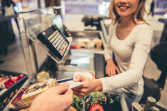 At the supermarket cash desk Stock Photography