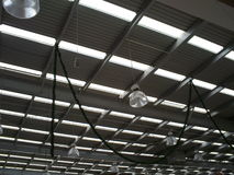 Supermarket ceiling. Pattern of a metal ceiling in american supermarket Royalty Free Stock Images