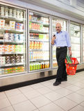 Supermarket Cell Phone Stock Images