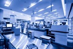 Supermarket checkout Stock Image