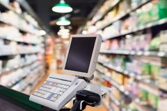 Free Supermarket Checkout Payment Terminal Stock Photo - 124456630