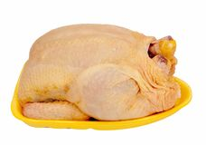 Supermarket chicken - isolated Stock Photography