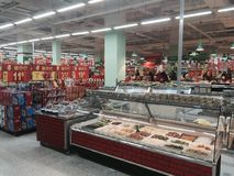 Supermarket in China Royalty Free Stock Photography