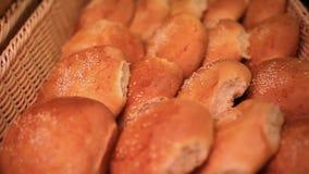 supermarket Chlebowa gablota wystawowa z bliska HD zbiory