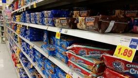 Supermarket: Cookie Asile Stock Photos
