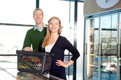 Supermarket Couple Portrait Royalty Free Stock Image
