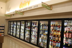 Supermarket Dairy Royalty Free Stock Image