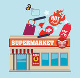 Supermarket design Royalty Free Stock Photos