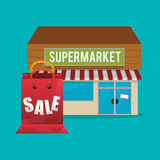 Supermarket design Royalty Free Stock Images