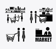 Supermarket, design, vector illustration. Stock Photography