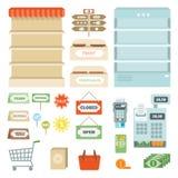 Supermarket Elements Set Stock Image