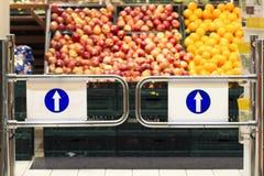 Supermarket entrance Royalty Free Stock Photo