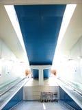 Supermarket escalator. Store escalator, Italy Royalty Free Stock Photos