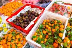 The supermarket of fresh fruit Royalty Free Stock Photos