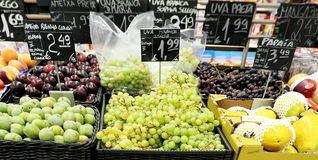 Supermarket. Fresh fruits at the supermarket Royalty Free Stock Image