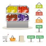 Supermarket fruits vegetables Stock Image
