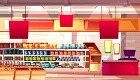 Supermarket grocery food vector illustration vector illustration