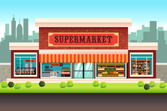 Supermarket Grocery Store. A vector illustration of a Supermarket Grocery Store Royalty Free Stock Image