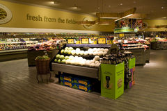 Supermarket with healthy foods royalty free stock photography