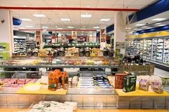 Supermarket i Europa Royaltyfria Bilder