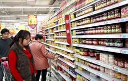 Supermarket i Kina Arkivfoton