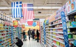 Supermarket i Kina Royaltyfri Fotografi