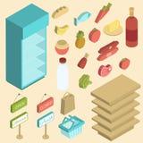 Supermarket Icon Isometric Royalty Free Stock Image