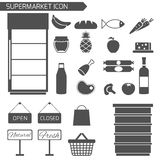 Supermarket Icon Set Royalty Free Stock Photo