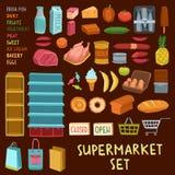 Supermarket icon set Royalty Free Stock Image