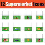 Supermarket icon set in Stock Images