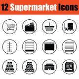 Supermarket icon set Stock Images