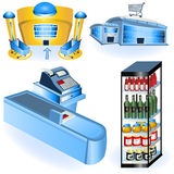 Supermarket icons 2 Stock Images