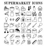 Supermarket icons Stock Photography