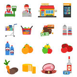 Supermarket Icons Set Royalty Free Stock Photography