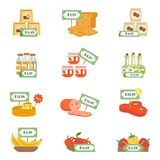 Supermarket Icons Set Stock Image