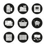 Supermarket icons set Stock Photo