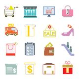 Supermarket icons Stock Images