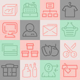 Supermarket Icons Set Royalty Free Stock Images