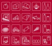 Supermarket icons Stock Image