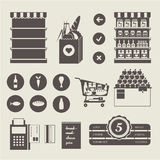 Supermarket icons Royalty Free Stock Photography