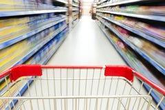 Supermarket interior Royalty Free Stock Photos