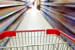 Supermarket interior Stock Photography