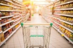 Supermarket interior Stock Photo