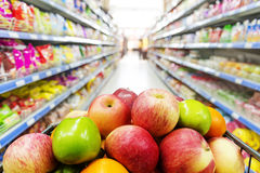 Supermarket interior Royalty Free Stock Image