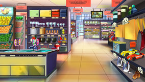 Supermarket interior. Image 02 Stock Images