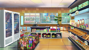 Supermarket interior. Image 03 Royalty Free Stock Image