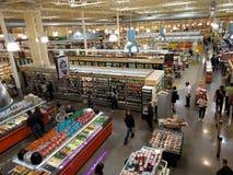 Supermarket interior Stock Photos