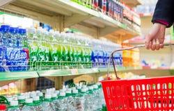 Supermarket interior products Stock Photos